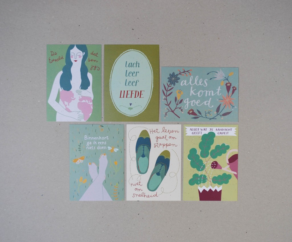 illustrated post card collection claire postkaarten