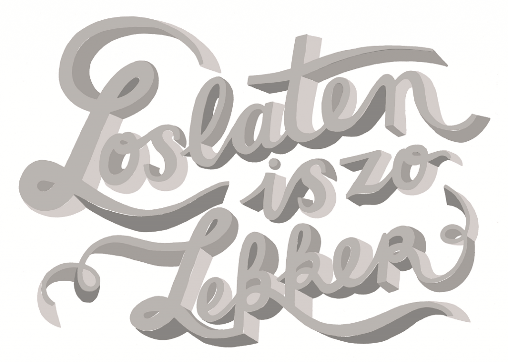 hand lettered sticker