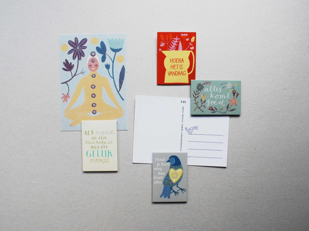 magnets and flower cards